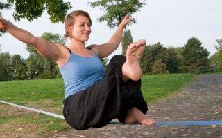 Slacklining - Balancieren für den Gleichgewichtssinn